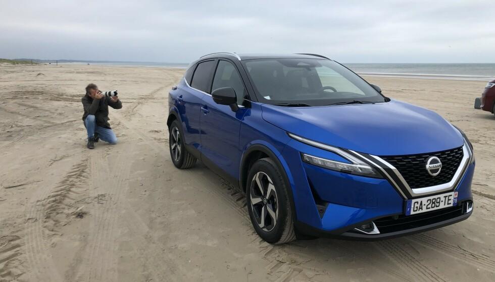 FØRSTE PRØVETUR: Nissan Qashqai med det spennende E-Power drivverket kommer til Norge til våren, men vi har allerede prøvekjørt: - Imponerer like mye på kjørekomfort som en elbil, er konklusjonen. Foto: Rune Korsvoll