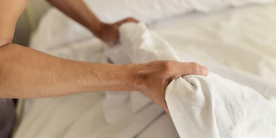 Image: - Uoppredd seng er lurt