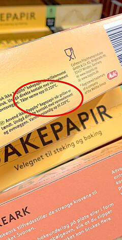 Image: Unngå bakepapir-tabben