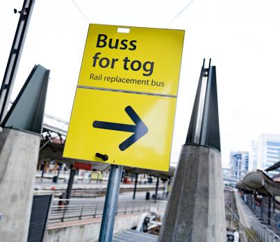 Image: Her blir det buss for tog i sommer