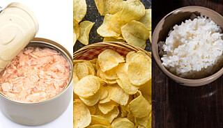 Image: Matvarene med skadelig innhold