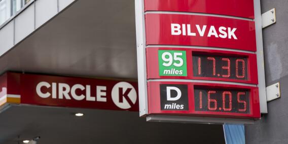 Image: Høyeste bensinpris på over et år