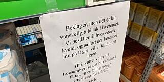 Image: Tomme hyller etter priskrig