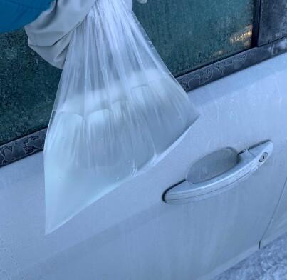 Image: Frosset? Hent plastpose!
