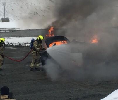Image: Brannfare i flere elbiler