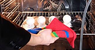 Image: Kok eggene i stekeovnen!