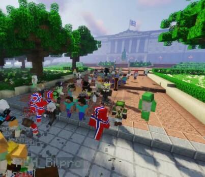 Image: Feir nasjonaldag i «Minecraft»