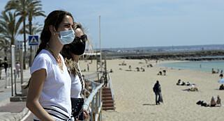Image: Munnbind på stranda og drone-overvåking