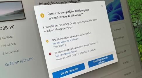 Image: Sjekk om du kan få Windows 11
