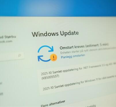 Image: Advarer mot Windows-oppdatering